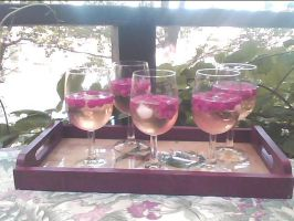 summer rasberry discolored vodka by sebbylover231