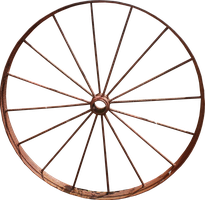 Iron Wagon Wheel PNG by Thy-Darkest-Hour