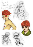 Young Justice sketches by London-Prophecy
