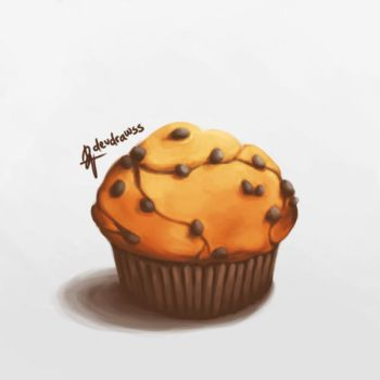 Chocolate Chip Muffin by devi96