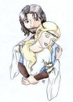 Faramir and Eowyn by Aiya-Evenstar