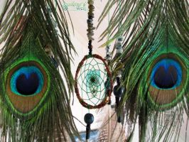 Peacock dreams close-up by SuvetarsWell