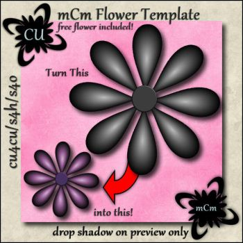 mCm Flower Template by tbkdesigns