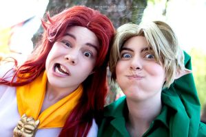 Derpy Malon and Link by Rainbow-Riders