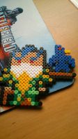Swain the one who's 3 steps ahead of you Hama Bead by Quico-kun