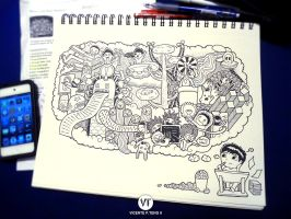 DOODLE: Thinking by vicenteteng