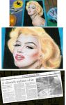 Street Painting Marilyn Monroe by noeling