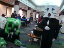 A Creeper and a Ghast in Suits by ThatOtherFangirl