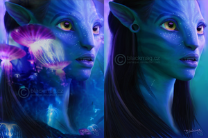 Neytiri, Avatar - painting by perlaque