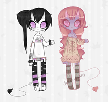 Demon Ladies Collab Adopt [CLOSED] by JeanaWei