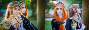 Zelda and Midna cosplay by LayzeMichelle