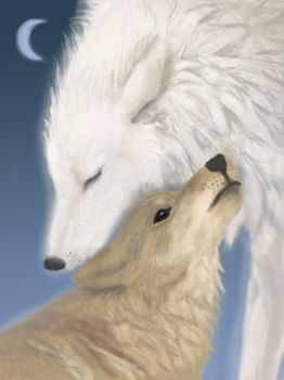 Tenderness of wolves by Chaos-of-Mind