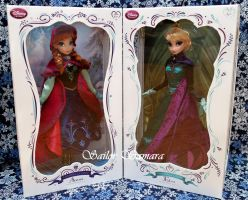 Disney Store Frozen LE Dolls Anna and Elsa by SailorSamara