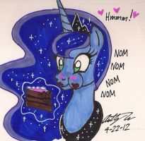 Luna and the Cake by newyorkx3