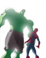 Spidey-hulk by elohim777