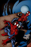 Spiderman y Spidergirl by RBWP-BRPW