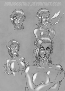 four sketches by mala666italy