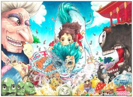 #1 COLOR SPREAD: Spirited Away by studioodin