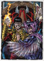 Vulcan Deathbird Sketch Card by tonyperna
