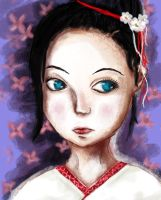 The Young Geisha PaintPractice by D4rkLynx