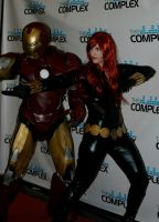 Iron man and black widow by Silver-Fyre