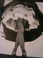 frilly dresses and fishnets by ErIgU