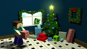 Minecraft Xmas by RinnG