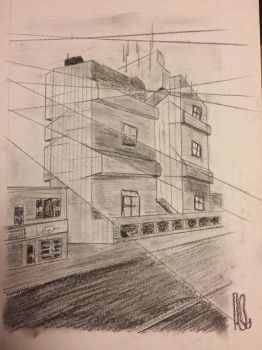 Princess Towers (Charcoal) by wortmore