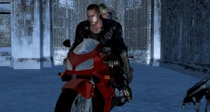 WINTER LOVE: Motorcycle ride by EpitaphOfTwilightCe