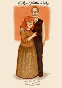 Order of the Phoenix - Molly and Arthur Weasleys by aidinera