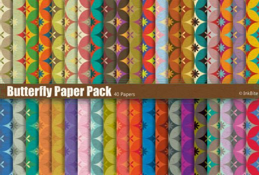 Butterfly Paper Pack by naga-pree