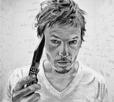 Daryl Dixon  of The Walking Dead-Norman Reedus by Catluckey