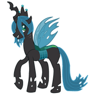 King Pupa : Colt Queen Chrysalis by vomitcunt