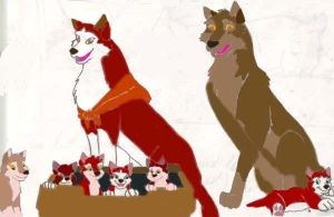 Balto family pic colored by FaPingMulan