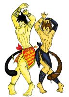 Dancing Saiyans_colored by Nei-Ning