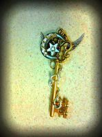Crystal Moon Fantasy Key by ArtByStarlaMoore