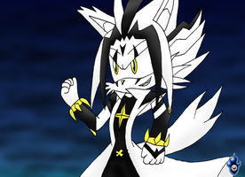 The Malefic Gold Wolf by Xx-LordVincent-xX