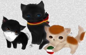 Neko Japan Germany Italy by iCanadianBacon