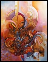 cocoon abstract painting by Amytea
