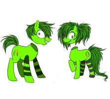GREEN HEADLESS PONIES by PhishRitzy