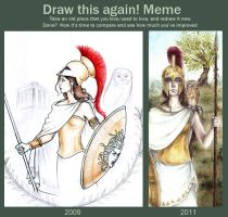 Before and After Meme Athena by Achen089