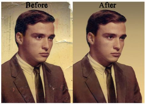 Photo Restoration by threedeez