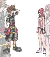 Sora and Kairi by MissBloodyEyes