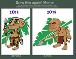 Draw this Again - Tribal Mon by Manda-of-the-6