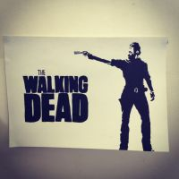 Walking Dead Stencil by Hillbro