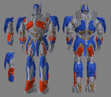 3D TF4 AoE Optimus Prime COMPLETE by RazzieMbessai