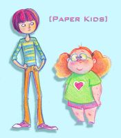 Paper Kids by TwiggyMcBones