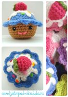 Hanami 2012: Cupcake Amigurumi by candystriped-cloud