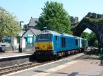 Arriva 67002 Pushes Out of Conwy by rlkitterman