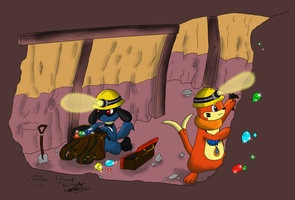 The Underground Mine coloured by Threehorn